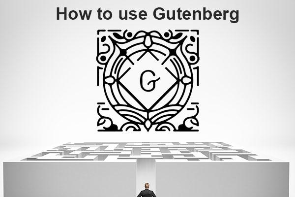 How to use Gutenberg, the new WordPress editor.